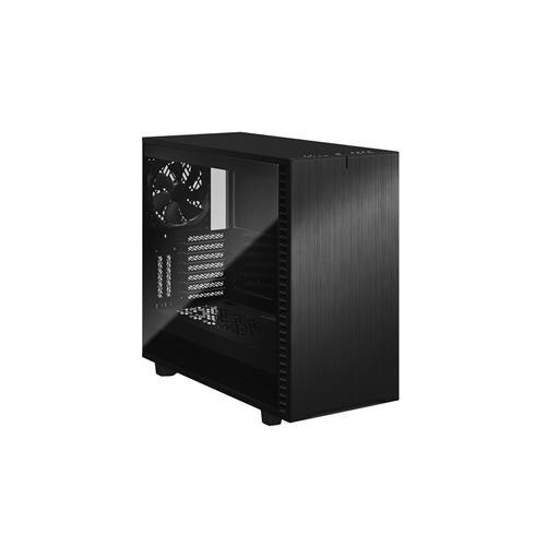 FD-C-DEF7A-03 Fractal Design Define 7 Black Brushed Aluminum//Steel E-ATX Silent Modular Dark Tinted Tempered Glass Window Mid Tower Computer Case