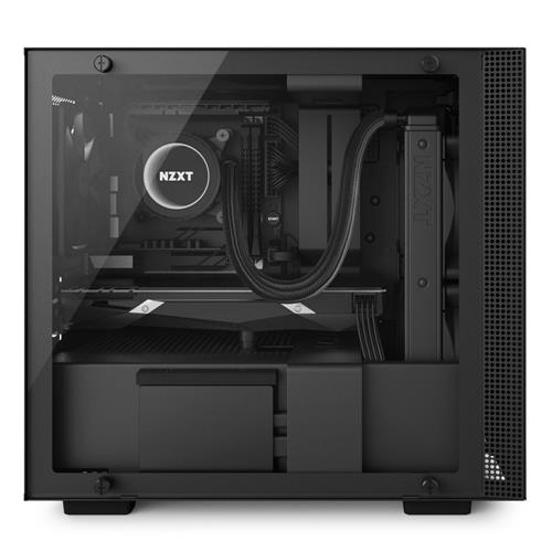 Mini-ITX PC Gaming Case Water-Cooling Ready Black Enhanced Cable Management System CAM-Powered Smart Device NZXT H200i RGB Lighting and Fan Control Tempered Glass Panel