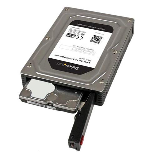 StarTech 2.5inch to 3.5inch SATA Aluminum Hard Drive Adapter Enclosure with SSD / HDD Height up to 12.5mm