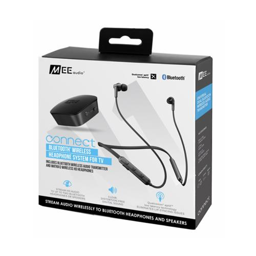 MEE Audio Connect T1N1 Bluetooth Neckband In-Ear Headphones (Black)