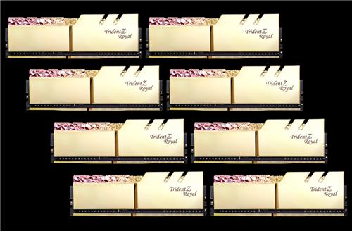 G SKILL Trident Z ROYAL (Gold) 64GB(8x8GB) DDR4 3600MHz Memory