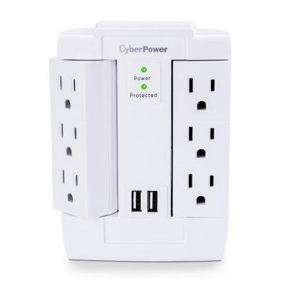 CyberPower 1200-Joules 6-Outlets Wall-Mount Surge Protector