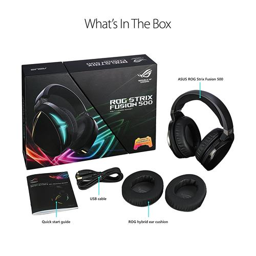 ASUS ROG Strix Fusion 500 Virtual 7.1 LED Gaming Headset with Microphone for PC/Mac/PlayStation (ROG STRIX FUSION 500)