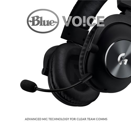Logitech G PRO X 7 1 Gaming Headset with Blue VO!CE (981