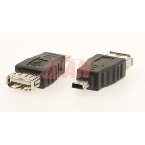 iCAN Converts USB A Female to Mini B 5-pin Male for Cell Phone/D.Camera (ADP USBAF-MB5M)