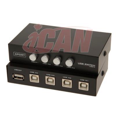 iCAN USB 1 type-A 4 Type-B Manual Switch Box (DSW USB-1A4B-4)