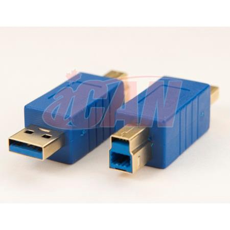 iCAN USB 3.0 SuperSpeed A Male to B Male Male Gold-plated adapter (ADP USB3AM-BM)