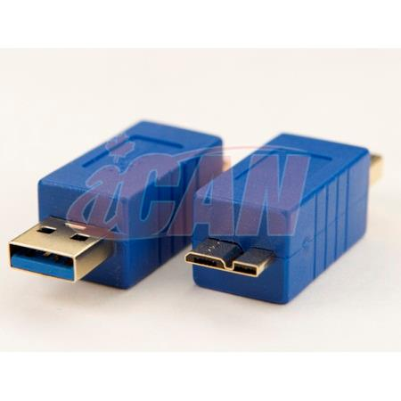 iCAN USB 3.0 SuperSpeed A Male to Micro B Male Male Gold-plated adapter (ADP USB3AM-MCBM)
