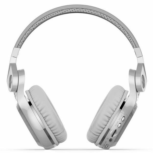 BLUEDIO T2+ Wireless Bluetooth 4.1 Stereo Headphone (White)