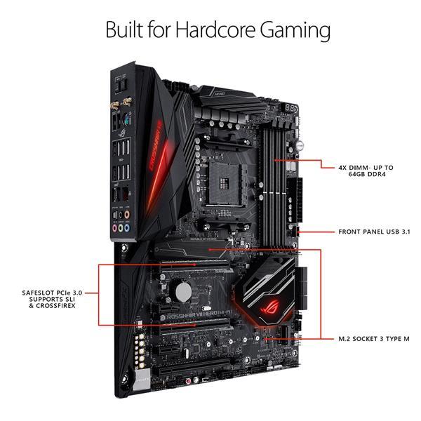 ASUS ROG CROSSHAIR VII HERO WIFI Socket AM4 AMD X470 Chipset