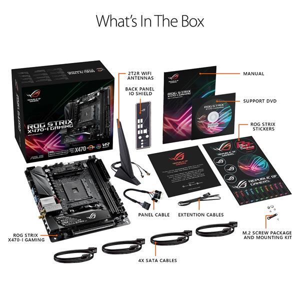 ASUS ROG STRIX X470-I GAMING AMD Socket X470 AM4 Mini-ITX M.2 Motherboard B