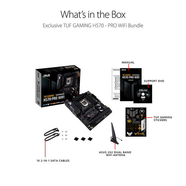 ASUS TUF Gaming H570-PRO WiFi 6 LGA1200 (Intel 11th/10th Gen) ATX