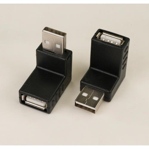 iCAN USB2 Adapter, USB Type A Male to Type A Female in 90 Degree Downward connection (ADP U2AMAF-90D)