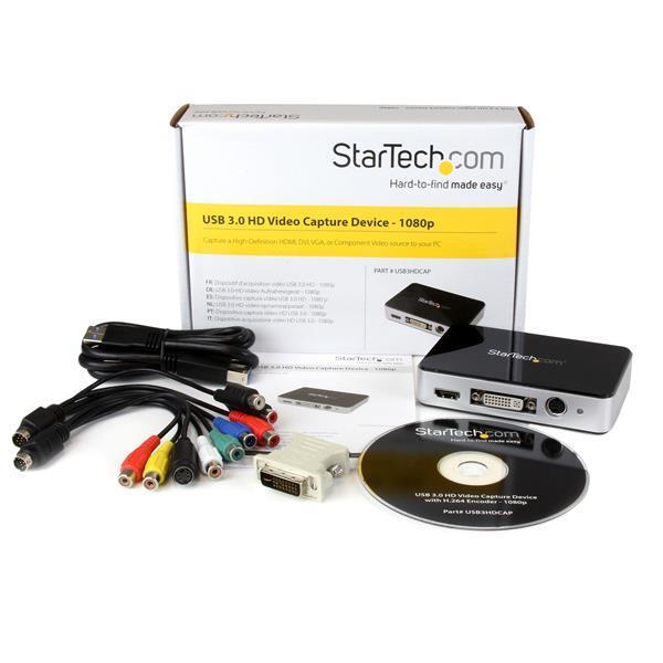 StarTech USB 3.0 Video Capture Device - HDMI / DVI / VGA / Component HD Video Recorder - 1080p 60fps (USB3HDCAP)