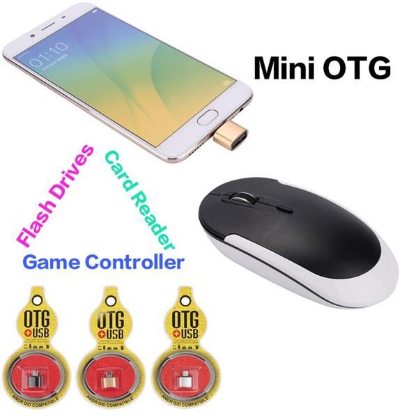 FLITOP Micro USB to USB 2.0 OTG Adapter, Alunimum, Silver (V8_OTG)
