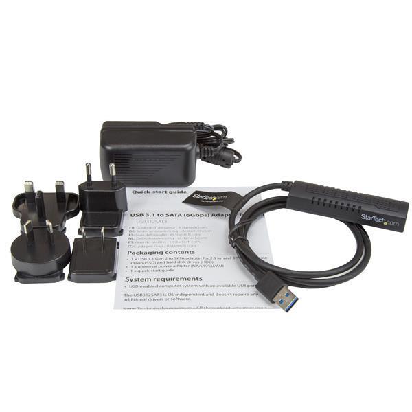Startech SATA to USB Cable - USB 3.1 (10Gbps) - UASP (USB312SAT3)