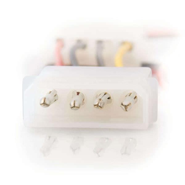 6IN INT Power splitter 3PIN Fan Male To 4PIN PASS-THRU