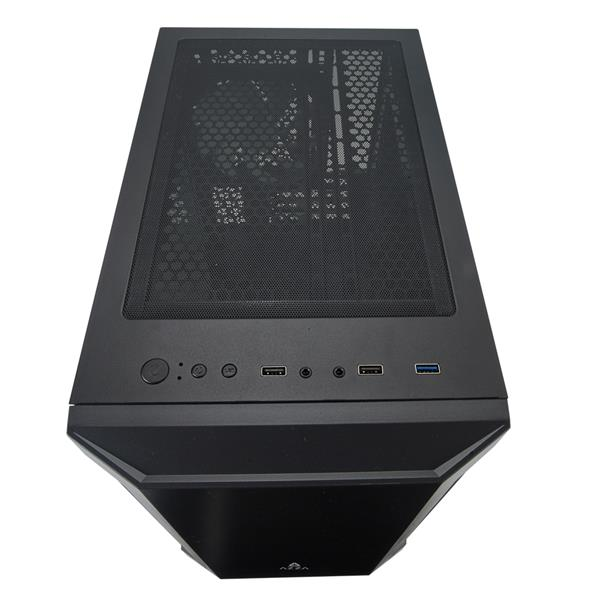 AZZA BASTION 120 Micro ATX Gaming Computer Case, Clear Side Window