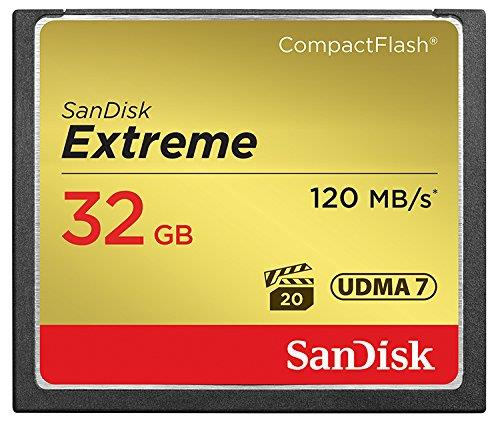 32GB EXTREME COMPACTFLASH CRD 120/85MB/S
