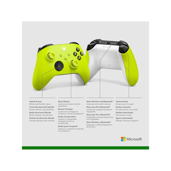 Microsoft Controller for Xbox One, X Box Series S, X Box Series X - Electric Volt