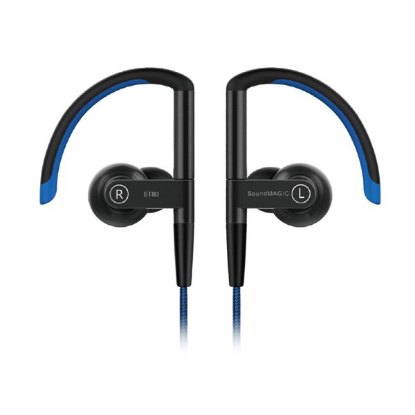 SoundMAGIC ST80 Blue Bluetooth Earphone with Mic and 3.5mm Cable