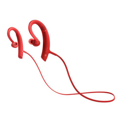 SONY Extra Bass Sports In-Ear Bluetooth Headphones (Red)