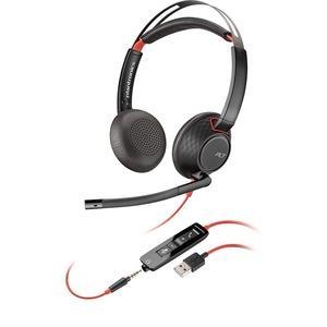 Plantronics Blackwire 5200 Series USB Headset - Stereo - USB Type A, Mini-phone - Wired - Over-the-ear - Binaural - Supra-aural