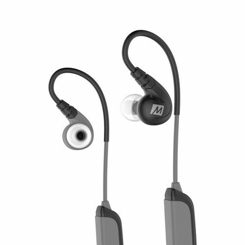MEElectronics X8 - Secure-Fit Stereo Bluetooth Wireless Sports In-Ear Headhphones (Black)