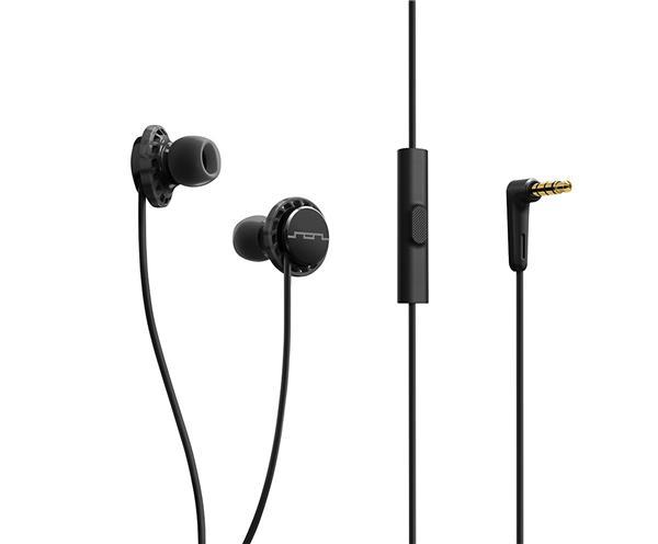SOL REPUBLIC Relays Sport Wired Headphones (1-Button) - Black