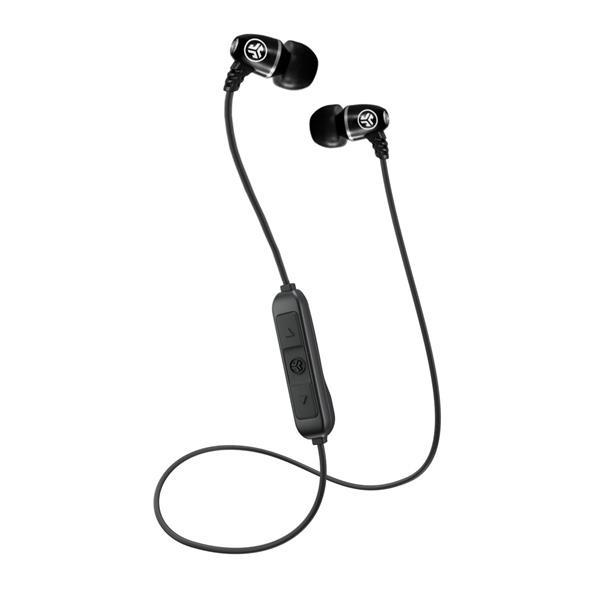 JLab Audio Metal Bluetooth Wireless Rugged Earbuds Black IFCEBMETALRBL