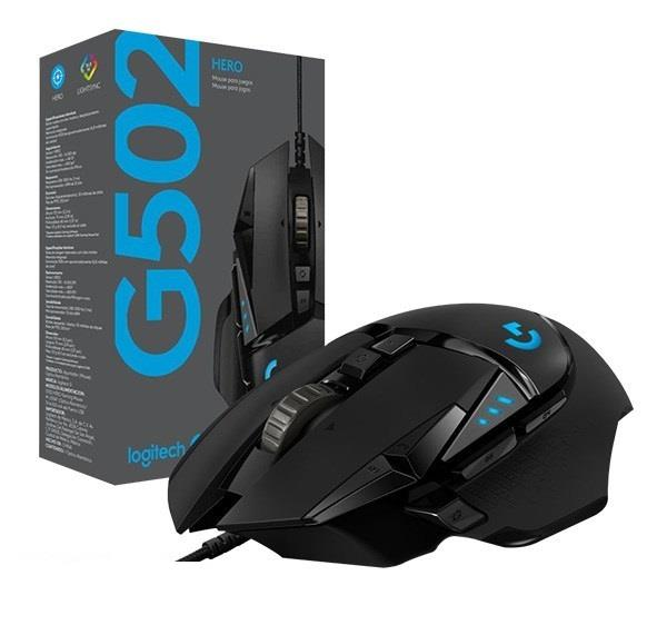 Logitech G502 HERO Wired High Performance Optical Gaming Mouse RGB Lighting