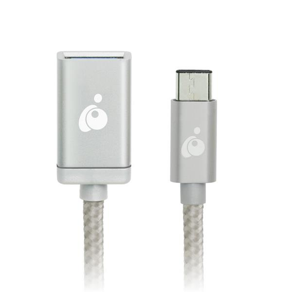 IOGEAR Charge & Sync USB-C to USB Type-A Adapter - Silver