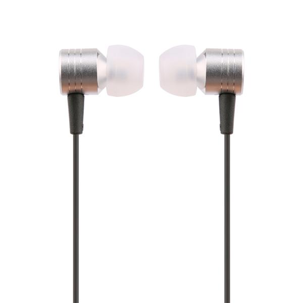 iCAN 3.5mm Stereo Ear Buds with Mic, Silver