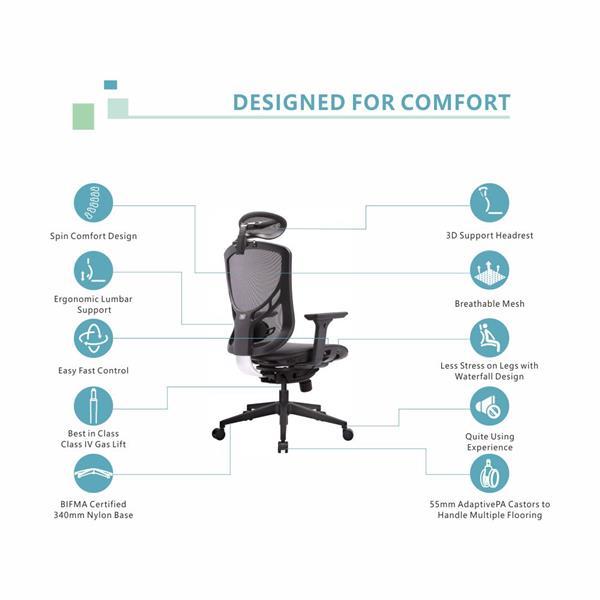 GTCHAIR I-VINO Ergonomic Office Chair, Back