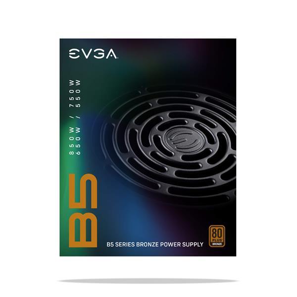 EVGA 550 B5, 80 Plus BRONZE 550W, Fully Modular Power Supply
