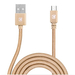 Caseco Nylon Braided Micro USB Cable - 2 Meter - Gold